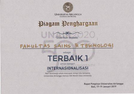 Piagam Terbaik 1 Internasionalisasi