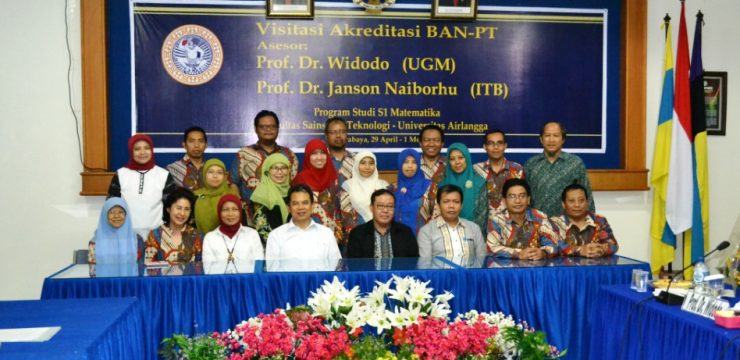 A Visit from BAN-PT to Mathematics Undergraduate Study Program FST Unair