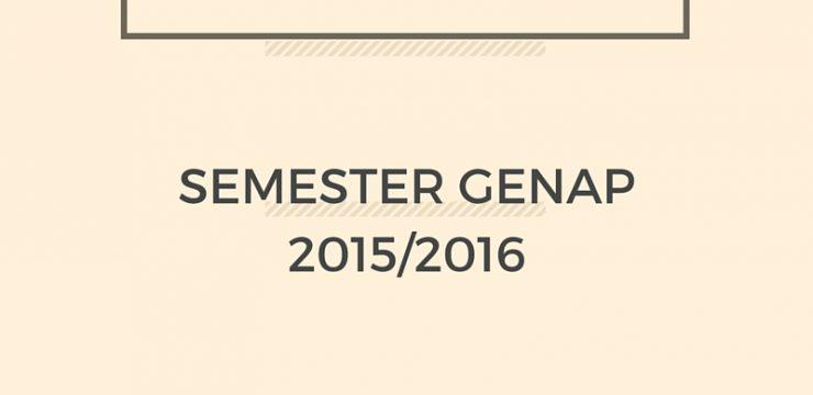 PENGUMUMAN UAS SEMESTER GENAP 2015/2016