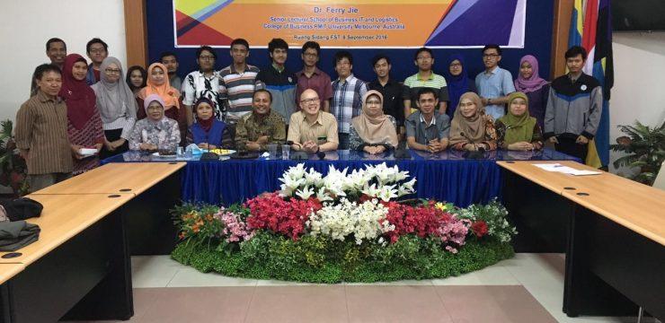 Seminar Nasional dan Kuliah Tamu Dr. Ferry Jie dari RMIT Australia