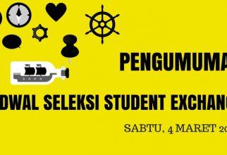 Jadwal Seleksi 5MT Student Exchange 2017