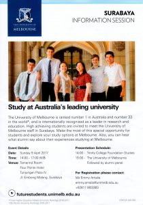 The University of Melbourne Surabaya Info Session