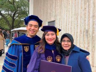 Prestasi Alumni Unair, Dr. Mirza Ardella Saputra di Louisiana State University, US