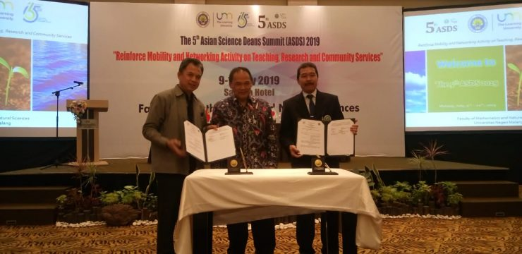 Asian Science Deans Summit 2019, Awal Kerja Sama FST UNAIR dengan FMIPA UM