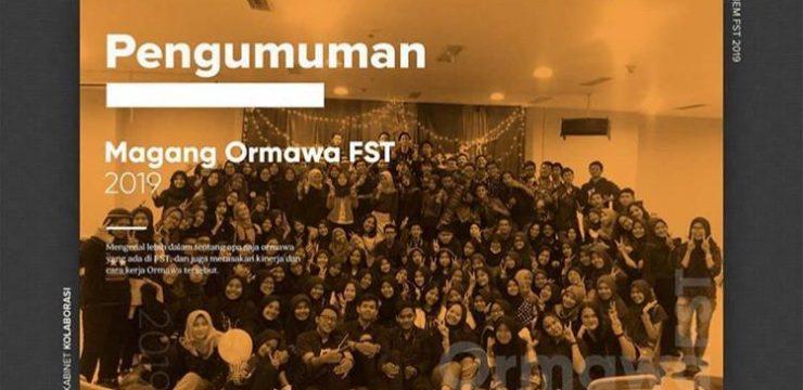 Pengumuman Magang ORMAWA FST UNAIR 2019