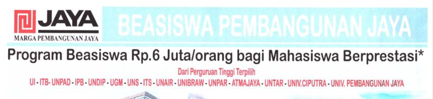 Usulan Calon Penerimaan Beasiswa Yayasan Jaya Sejahtera tahun 2020/2021